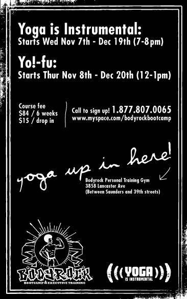 YII black and white flyer
